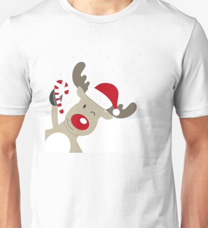 Merry Chrismas Reindeer Ugly Sweater Xmas  Unisex T-Shirt