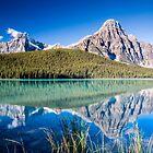 Mount Chephren and Waterfowl Lakes by Jim Stiles