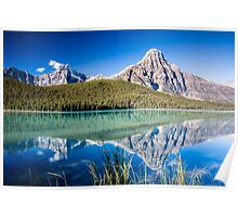 Mount Chephren and Waterfowl Lakes Poster