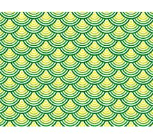 Fancy Green Scale Pattern Photographic Print