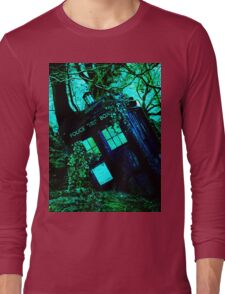 tardis-chested in the woods Long Sleeve T-Shirt