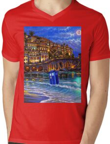 tardis beached Mens V-Neck T-Shirt