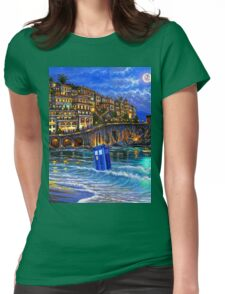 tardis beached Womens Fitted T-Shirt