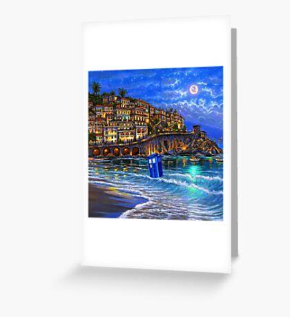 tardis beached Greeting Card