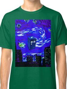 tardis between the sky and the city Classic T-Shirt