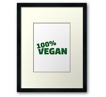 100% Vegan Framed Print