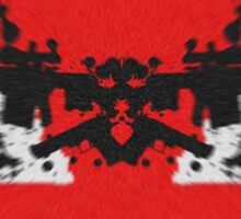 Gun Art Red/Black Sticker