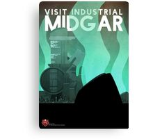 Midgar Travel Poster Canvas Print