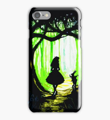 daughter and rabbits iPhone Case/Skin