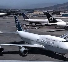 Air New Zealand 747 at San Francisco by Jamie Baldwin