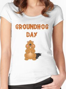 Happy GroundHog Day T-Shirt Women's Fitted Scoop T-Shirt