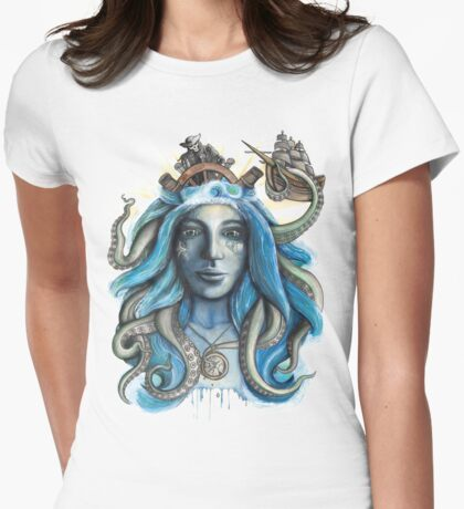 Sea Bed Queen Womens Fitted T-Shirt