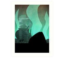 Midgar Travel Poster- No Text Art Print