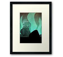 Midgar Travel Poster- No Text Framed Print