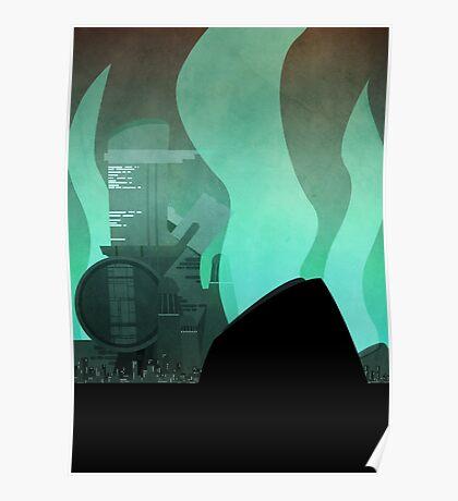 Midgar Travel Poster- No Text Poster