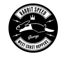 Rabbit Speed George Two sticker by Mistersid