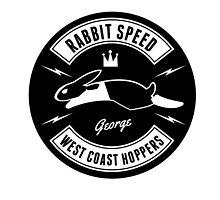 Rabbit Speed George Two sticker by Mistersid