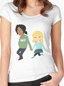 teenage dirtbags [SnK] Women's Fitted Scoop T-Shirt