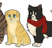 shineko no kitties by freckledtrash