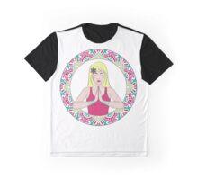 Mandala - Girl in Meditation Graphic T-Shirt
