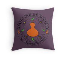 IDGS - Idaho Gourd Society Logo Pillows & Totes - Eggplant Throw Pillow