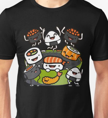Sushi Party (in Black) Unisex T-Shirt