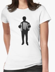 Accordion player Womens Fitted T-Shirt