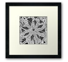 Tangled Flower Framed Print