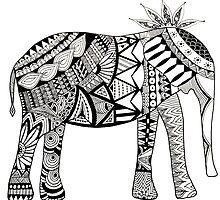 JUKA Elephant B&W by jukaartist