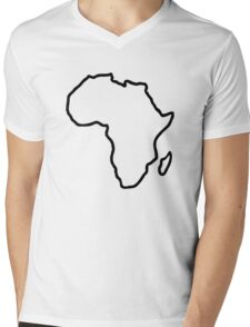 Africa map Mens V-Neck T-Shirt