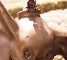 DUMBO WITH TIMOTHY IN BRONZE by JacobCarder