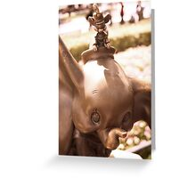 DUMBO WITH TIMOTHY IN BRONZE Greeting Card