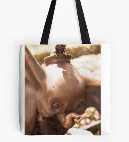 DUMBO WITH TIMOTHY IN BRONZE Tote Bag