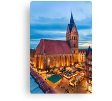 Christmas Market in Hannover Canvas Print