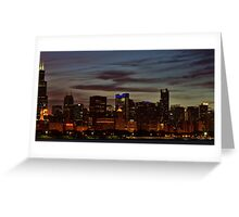 Nighttime in Chicago Greeting Card