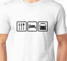 Eat Sleep Late Bay black white Unisex T-Shirt