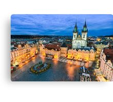 The Old Town Square in Prague Canvas Print