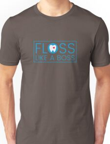 Floss like a boss - tooth with heart logo Unisex T-Shirt