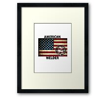 American Welder Made in the USA Shirt Poster Sticker Cases Covers  Framed Print