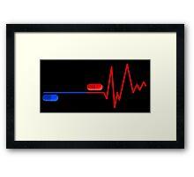 Blue Pill Red Bill Framed Print