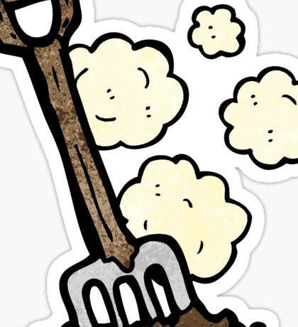 garden fork cartoon Sticker
