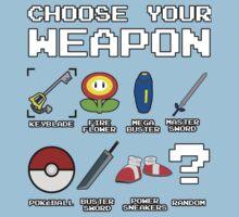 CHOOSE YOUR WEAPON Kids Tee