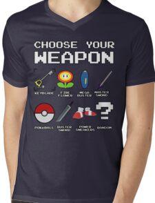CHOOSE YOUR WEAPON Mens V-Neck T-Shirt