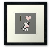 I heart Cows Framed Print