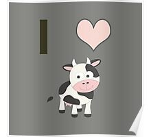 I heart Cows Poster