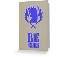 Blue Pegasus Greeting Card