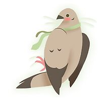 Mourning Dove Pillow by wendibird