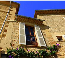 Cream Shutters And Blue Skies Photographic Print