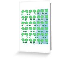 green tadpoles Greeting Card