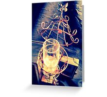 Steampunk Cage and Glass 1.0 Greeting Card